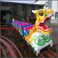 Wholesale 6 cabins 20 seats fiberglass musical Kiddie Ride Indoor Mini Roller Coaster Sliding Dragon for Sale from china suppliers