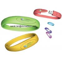 Wholesale Genuine Capacity Silicone Bracelet USB Flash Drives from china suppliers
