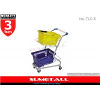 Wholesale High Grade Steel Supermarket Shopping Trolley Cart For Two Plastic Baskets from china suppliers