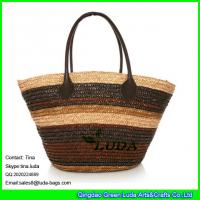 Wholesale LUDA ladies wheat straw shoulder bag customers personalized bags from china suppliers