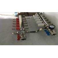 Wholesale Intelligent Temperture Control Floor Heating Manifold With Two Auto Drain Valve 5 Ways from china suppliers