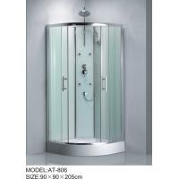 Wholesale Shiny chrome complete enclosed shower cubicles Aluminium Rails / Profiles tub shower enclosures from china suppliers