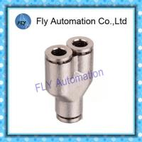 Wholesale Y- Tee metal nickel-plated push-in fitting  Pneumatic Tube Fittings PY series from china suppliers