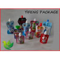 Liquid Water Juice Jelly Custom Printed Barrier Spout Bag SGS Approved