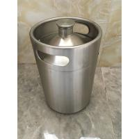 China 2L Mini keg growler stainless steel food grade material Beer growler with tap faucet on sale