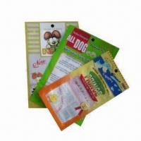 Buy cheap 3 Side Sealed Plastic Packing Bags with Elliptic Transparent Window from wholesalers