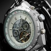 Wholesale Steampunk Silver Dial Tourbillon Automatic Watch Big Case For Male from china suppliers
