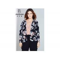 Wholesale Trendy Floral Print Plus Size Ladies Clothing For Young Women Open Front Waterfall Jacket from china suppliers