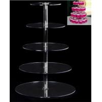 Wholesale 2016 Acrylic 5 Tier Cake Tray Acrylic Cupcake Display Rack from china suppliers