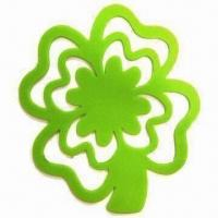 Wholesale Clover Shaped Silicone Table Mat, -40 to 220°C Temperature from china suppliers