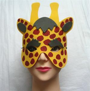 Wholesale Halloween Christmas Children Cartoon EVA Forest Animal Giraffe Mask from china suppliers