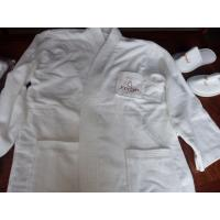 Wholesale 100% cotton hotel bathrobe with customized embroidery logo and size from china suppliers