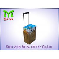 Wholesale Recyclable Corrugated Exhibition Trolley / Advertising Cardboard Box With Wheels from china suppliers