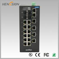 Wholesale 18 Electric port + 4 Gigabit FX fiber optic 28 Port Switch , Industrial Ethernet Switch from china suppliers