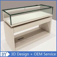 Wholesale Nice Standard Size Matte White Wooden Glass Display Plinth With Led Strip Lights from china suppliers