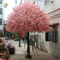 Wholesale UVG 15 foot large cheap artificial trees in silk cherry blossoms for wedding background decoration CHR161 from china suppliers