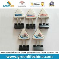 Wholesale Hot Sale Triangular Custom Logo Handle W/Metal Black Binder Clip from china suppliers