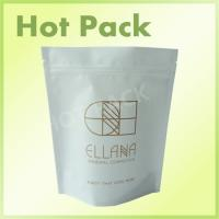 Wholesale White Color Kraft Stand Up Pouches With Zipper , Face Cosmetics Mask Bag from china suppliers
