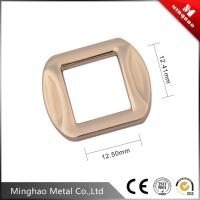 Quality 12.5mm fashion metal bag square buckle , bag buckle accessories with light gold for sale