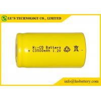 Wholesale Low Self Discharge C3500mah 1.2 V Nicd Rechargeable Batteries Wide Temperature Range from china suppliers