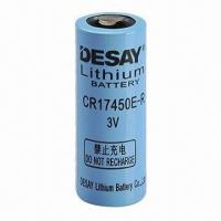 Quality 2,700mAh 3.0V Lithium Battery, 1,000mA Maximum Continuous Current for sale