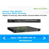Wholesale 220V Digital TV 8 ASI Multiplexer 2 Mbps - 100 Mbps Output Rate With PSI SI Inserting from china suppliers