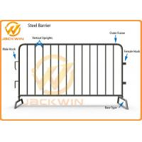 Wholesale Temporary Flat Feet Galvanized Crowd Control Barrier Iron Tube Customized Size from china suppliers