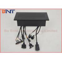 Quality Rectangular Conference Hidden Desk Pop Up Sockets with Bottom Connection Cables for sale