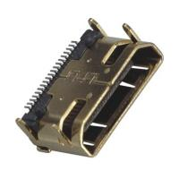 Buy cheap Computer Pin Connectors Mini HDMI 19P Right Angle & SMT LCP Black UL94V-0 from wholesalers