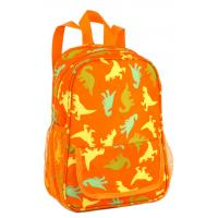 Wholesale Orange Recycled Daily Fabric Polyester School Bags For Teens Ultralight from china suppliers