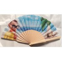 Wholesale Hand Held Folding Hand Fans With Natural Wooden Ribs And Fabric or paper Cover , size 23cm from china suppliers