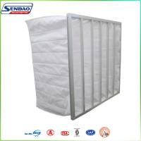 Quality Synthetic Filter Media Non-Woven 6 Pockets HVAC Air Filters , High Capacity Air Conditioner Filter Replacement for sale