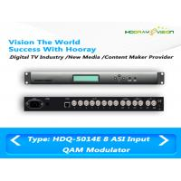 Wholesale Multiplexing Scrambling Digital TV Modulator , 4 IN1 ASI QAM Modulator from china suppliers