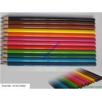 Wholesale 12 long promotional color pencil set for back to school, advertising drawing use from china suppliers