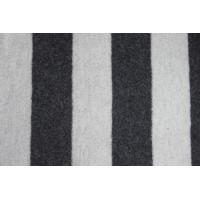 Wholesale Wool Material Deep Grey And White Striped Fabric , Shearling Fleece Vintage Wool Fabric from china suppliers