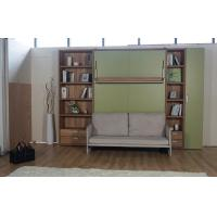 Wholesale Queen Size Modern Vertical Wall Bed Murphy Bed With Green Sofa from china suppliers