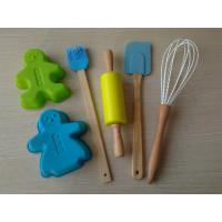 Wholesale 6pcs Non-Stick Silicone Bakeware Set for Kids , FDA Green Silicone Pastry Tools from china suppliers