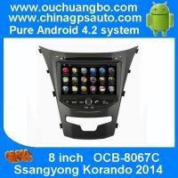 Wholesale Ouchuangbo Android 4.2 Car DVD Radio Stereo System for Ssangyong Korando 2014 3G Wifi USB GPS OCB-8067C from china suppliers