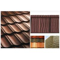 Wholesale Flat Shake Aluminum Stone Chip Coated Steel Roof Tiles For Mansion / building outdoor from china suppliers