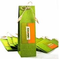 Wholesale Customized Promotional Green Paper Wine Gifts Bags  from china suppliers