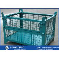 Quality Warehouse Stackable Foldable Metal Box Wire Mesh Container For Logistics Turnover for sale