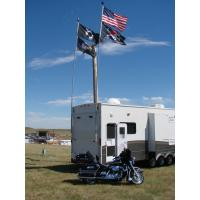 Wholesale portable 22FT telescopic fiberglass RV flag pole / windsock pole from china suppliers