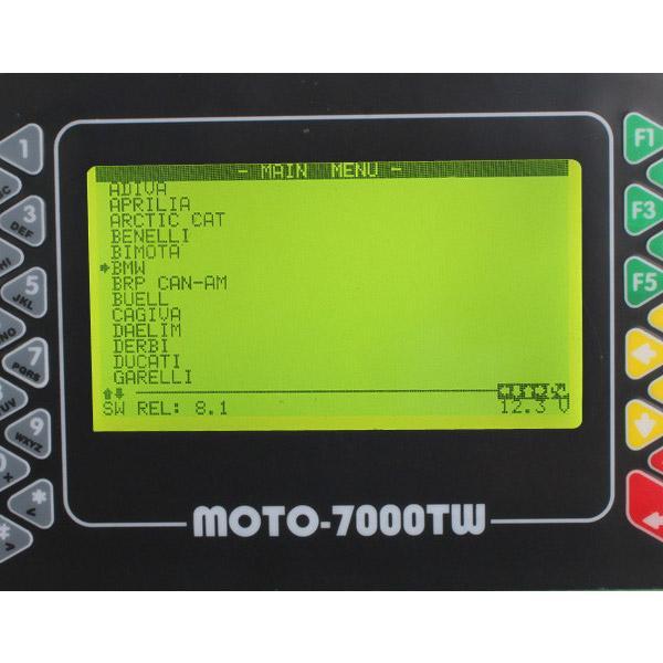 Moto 7000TW Universal Scanner softwar display 1