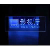 Wholesale Blue Light Acrylic Advertising Led Display In Hotel / Restroom / Cinema from china suppliers