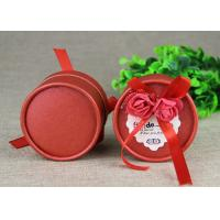 Wholesale Mini Red Round Boxes and  Paper Cans  for Wedding Gift / Birthday Gift Packaging from china suppliers