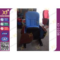 Wholesale Long-term Comfort No Floor Fixed Blue PP Back Conferece Hall Chairs With MDF Pad from china suppliers