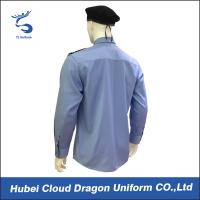 Wholesale Custom Blue Security Shirt  With Comfortable 100% Cotton / Mens Long Sleeve Shirts from china suppliers