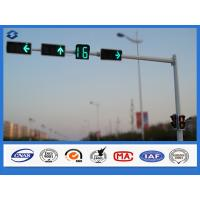 Buy cheap Single Arm Hot Dip Galvanized Traffic Signal Pole Q235 steel Material from wholesalers