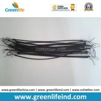 Wholesale TPU Cord 1.2MM Unextended Length 30CM Black Nylon String 5CM Height on Two Ends Stop-drop Coil Lanyards from china suppliers