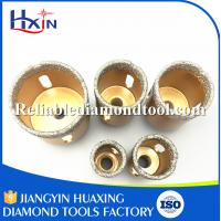 Quality Overall length for 60mm for Stone/Ceramic/Glass Golden Brazed Diamond Core Drill Bit for sale